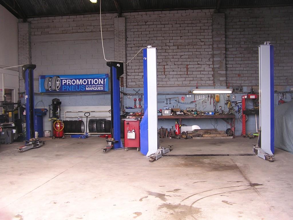 Atelier de réparations - Ponts élévateurs