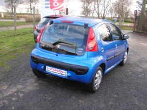Peugeot 107 blue lion trendy arrière